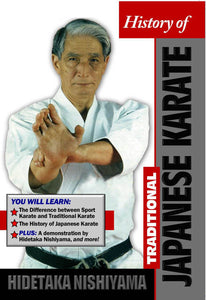 History Traditional Japanese Karate DVD Hidetaka Nishiyama