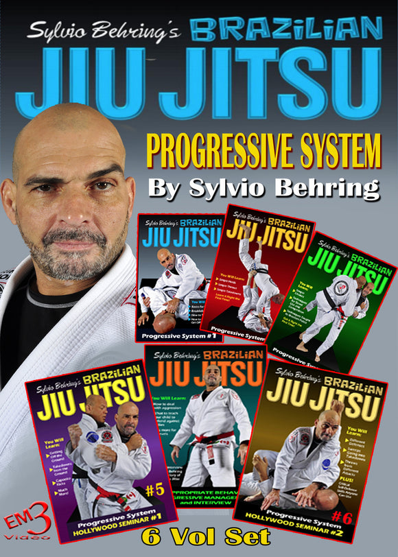 6 DVD Set Master Sylvio Behring Brazilian Jiu Jitsu Progressive Fighting System