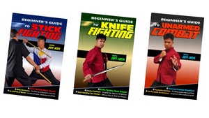 3 DVD Set Beginners Guide to Modern Martial Arts Stick, Knife, Unarmed- Jeff Jeds