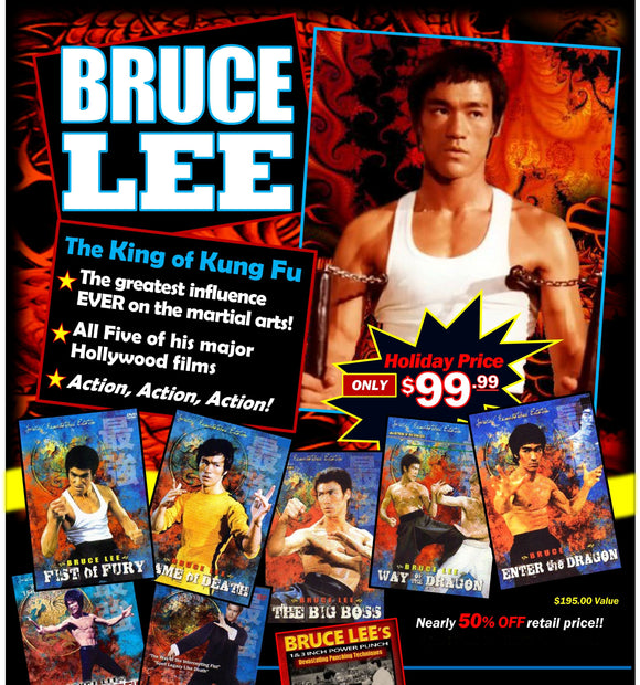 Bruce Lee 7 Movie/TV DVD Set + Collector Magazine + 1