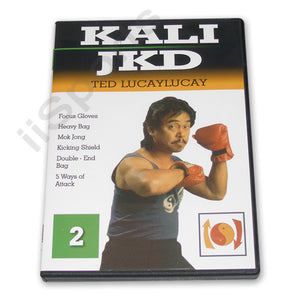 Ted Lucaylucay Kali Escrima Jeet Kune Do JKD DVD #2 kicking shield punching bag