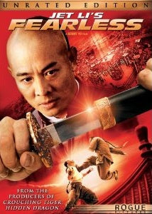 Jet Li Fearless - Chinese martial arts action movie DVD Unrated Edition!