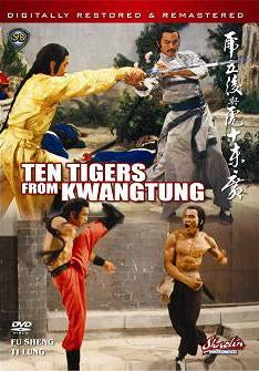 Ten Tigers From Kwangtung - Hong Kong Kung Fu Martial Arts Action movie DVD