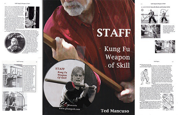 DVD & BOOK SET Chinese Staff Kung Fu Weapon of Skill DVD Ted Mancuso bo jo