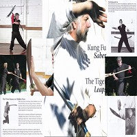 DVD/BOOK SET  Kung Fu Saber: Tiger Leaps Bladed Weapon Ted Mancuso