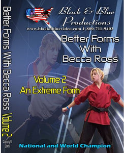 Better Tournament Karate Extreme Forms Kata #2 DVD National Champion Becca Ross