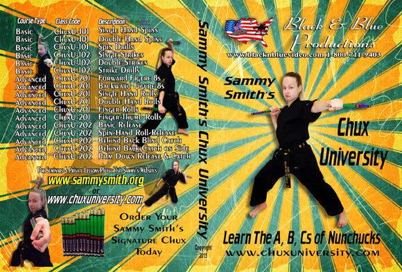 Karate Tournament Champion Sammy Smith Chux University ABCs Nunchucks DVD
