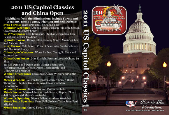 2011 U.S. Capitol Classics & China Open Karate Tournament DVD sparring kata