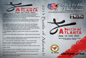 2013 Battle of Atlanta Karate Open Tournament DVD NASKA 5A sparring kata weapons