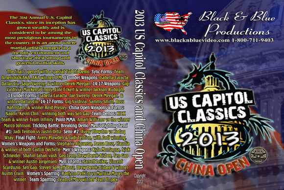 2013 U.S. Capitol Classics & China Open Karate Martial Arts Tournament DVD kata