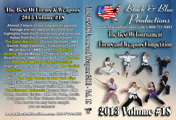 2013 #18 Best Tournament Karate Forms & Weapons Competition DVD