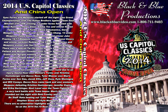 2014 U.S. Capitol Classics & China Open Karate Martial Arts Tournament DVD forms