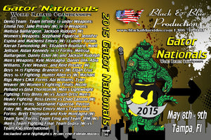 2015 Gator Nationals Karate Martial Arts Tournament DVD sparring forms demos