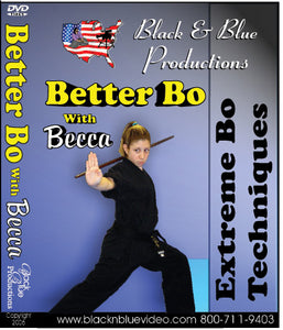 Tournament Karate Better Bo Staff Forms Extreme Techniques #1 DVD Becca Ross