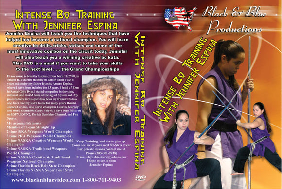 Tournament Karate Intense Bo Staff Training Techniques DVD Jennifer Espina
