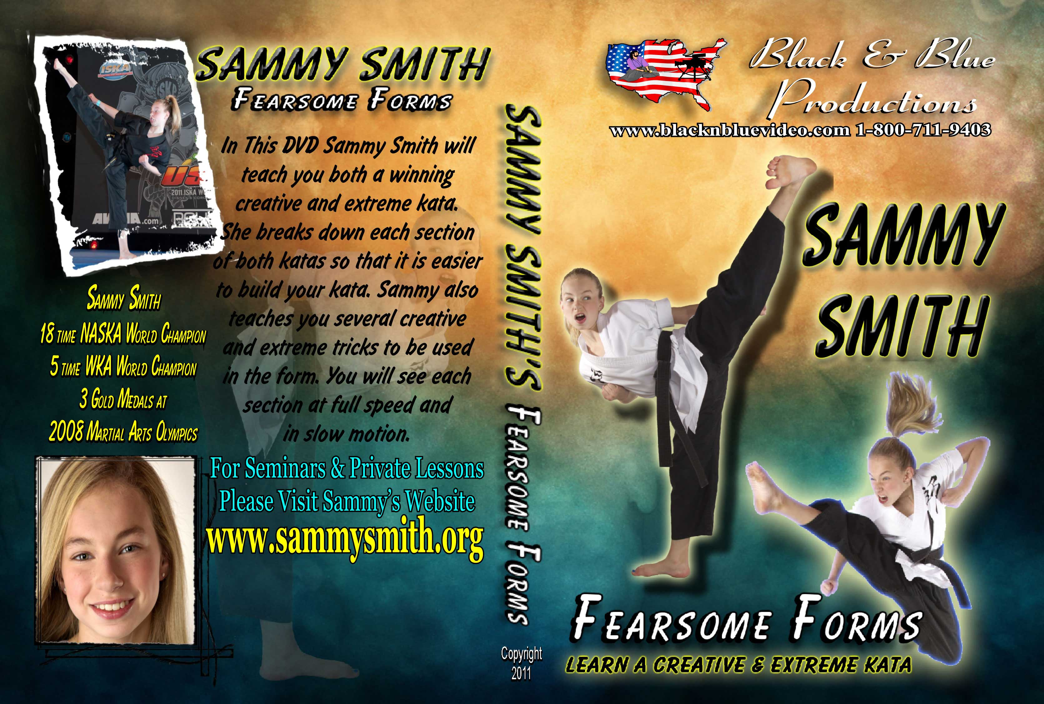 Karate Tournament Champ Sammy Smith Fearsome Forms A Creative & Extreme Kata DVD