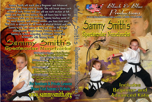 Tournament Karate Spectacular Nunchucks forms, advanced tricks DVD Forms Sammy Smith
