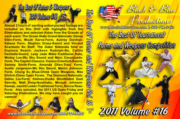 2011 #16 Best of Forms & Weapons Competition Karate Martial Arts Tournament DVD