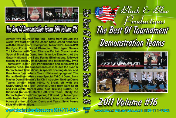 2011 #16 Best Demo Teams & Sync Forms Karate Martial Arts Tournament DVD