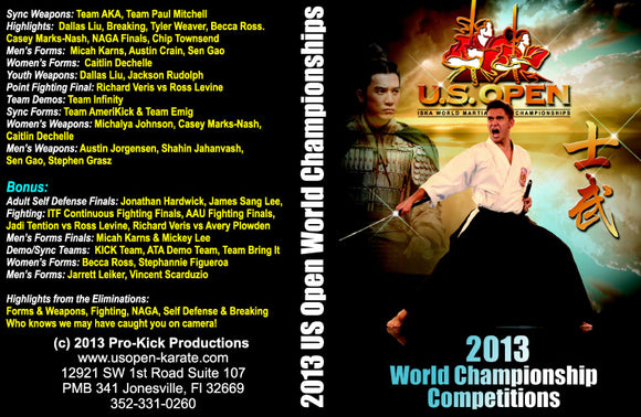 2013 ISKA U.S. Open World Martial Arts Championship Tournament DVD sparring