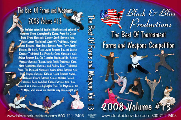 2008 Best Tournament Grand Championship Karate Forms Kata & Weapons #13 DVD