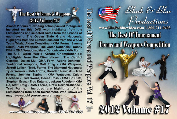 2012 Best Tournament Karate Forms & Weapons Competition #17 DVD