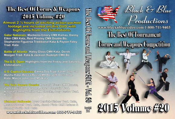 2015 Best of Tournament Karate Forms & Weapons Competition #20 DVD