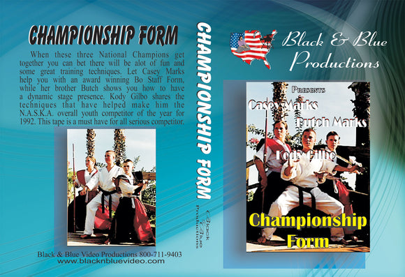 Tournament Karate Championship  Weapons & Swords Forms Kata DVD Casey & Butch Marks