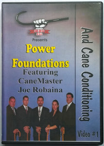 Power Foundations & Cane Conditioning #1 DVD staff stick martial art Joe Robaina