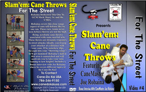 Slam em Cane Throws For Street Self Defense #4 DVD staff martial arts weapon