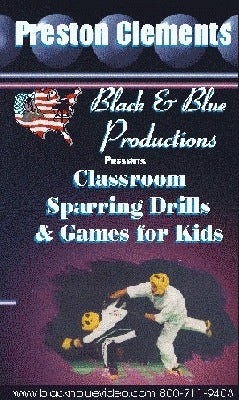 Classroom Martial Arts Karate Sparring Drills & Games for Kids DVD Clements