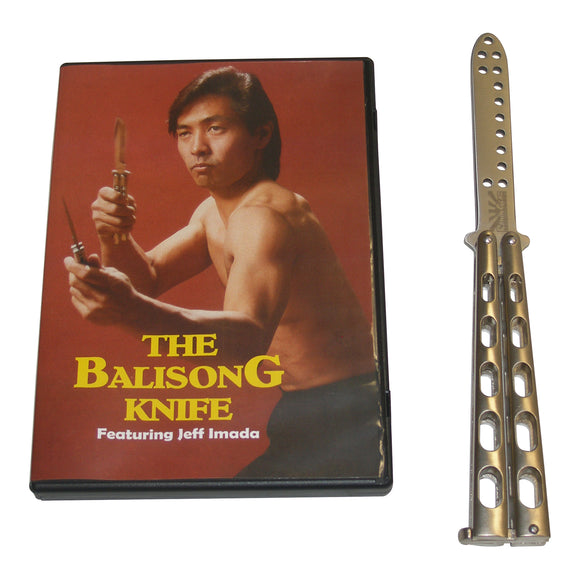 Practice Metal Balisong Butterfly Knife + Training DVD Set martial arts escrima