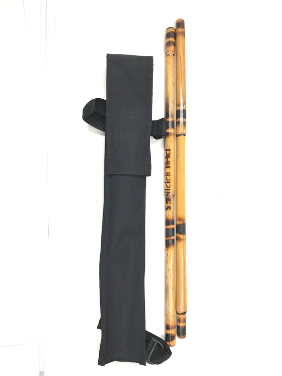 Kids Karate Martial Arts Burned Rattan Escrima Sticks & Case Set $22 Value!