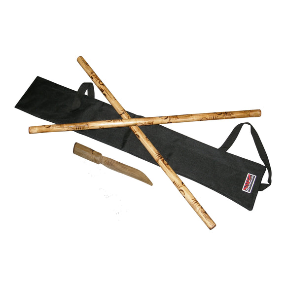 DELUX Escrima Kali Arnis Rattan Stick Set $55 Value!