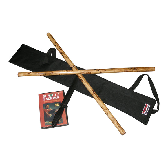 COMPLETE Escrima Kali Arnis Stick & Gear Set $85 Value!