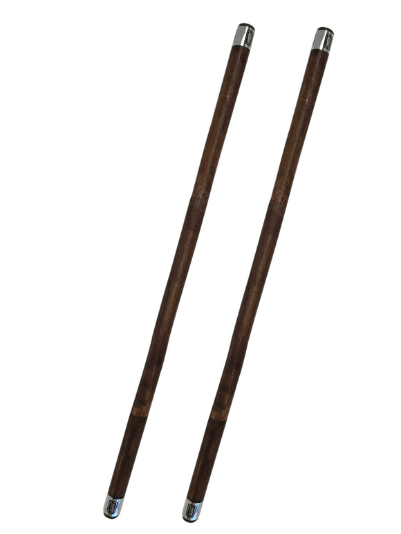 Pair BROWN Doce Pares Rattan Escrima Kali Arnis Fighting Stick Set Handcrafted
