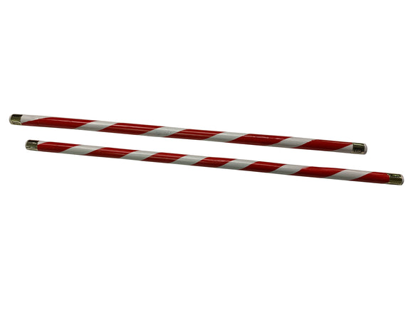 Red/White Spiral Tournament Demo Rattan Escrima Stick Set