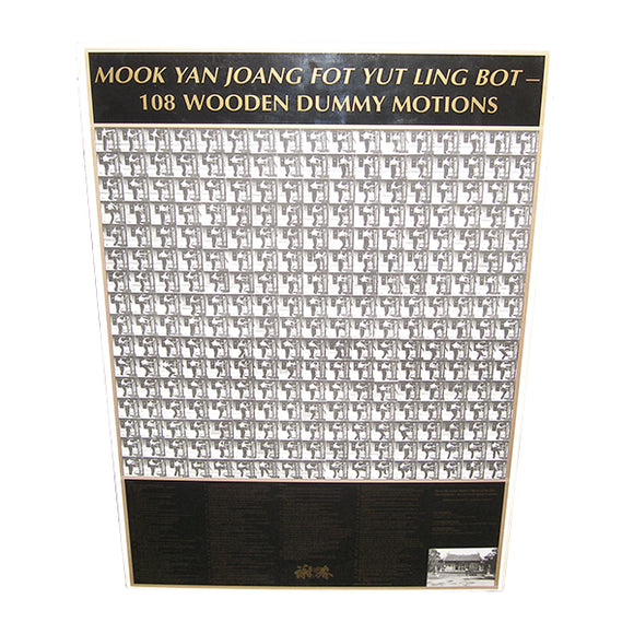 Randy Williams Wing Chun Wooden Dummy 108 Movements Poster
