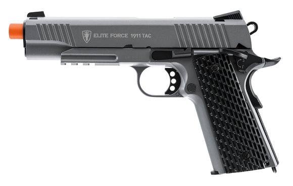 T4E Airsoft Elite Force 1911 CO2 TAC Gun Metal Gray