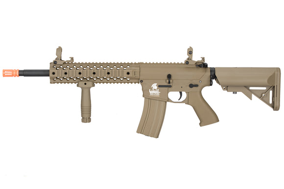 Airsoft Tan M4 RIS CQB AEG Assault Rifle Gun Set + Battery & Charger
