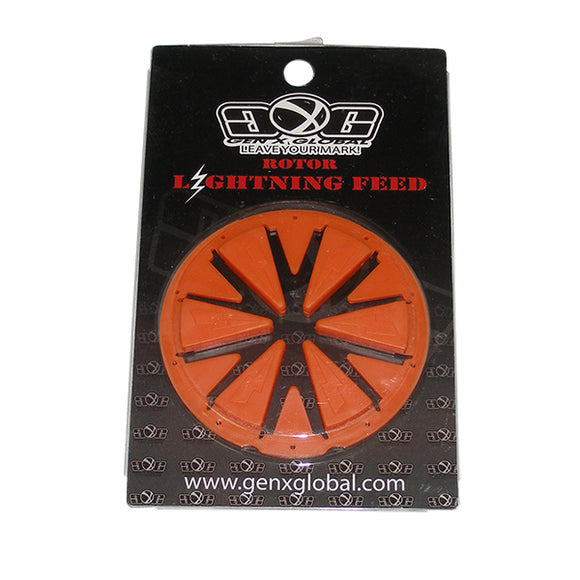Lightning DYE Rotor 2010 12 13 Loader Hopper Speed Feed Gate Collar Lid ORANGE