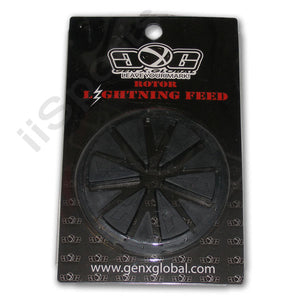 Lightning DYE Rotor 10' 2012 2013 Loader Hopper Speed Feed Gate Collar Lid BLACK