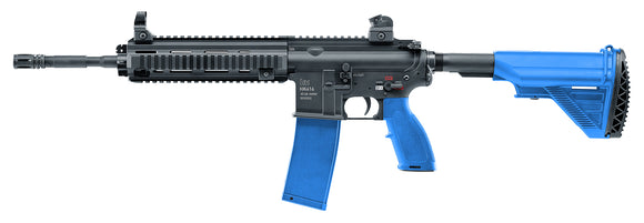 HK416 Carbine .43 caliber 11mm H&K LE Paintball Assault Rifle Black Blue Mag Fed