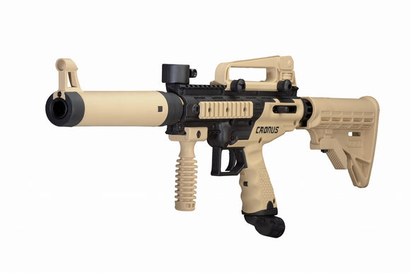 Tippmann Cronus Tactical Paintball Gun Set .50 caliber Tan/Black + FREE PAINT!