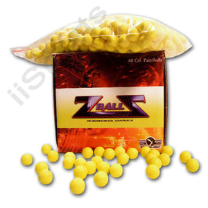 500 Reusable Foam Rubber 68cal Z Balls Practice Target Training Paintballs zball