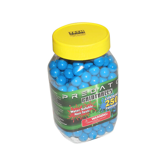Predator .50 caliber paintballs 250 jar  BLUE