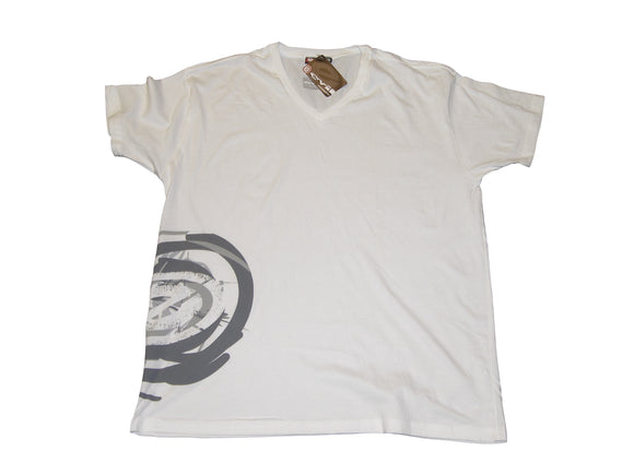 Evil 07 Paintball Swirl short sleeve T-Shirt White XL 100% Cotton Tee