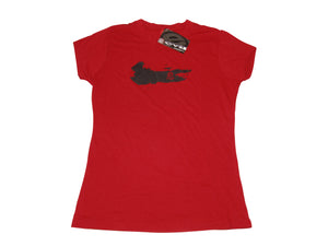 Evil 07 Paintball Ladies Girls Teen Swipe Red Tee short sleeve T-Shirt MEDIUM