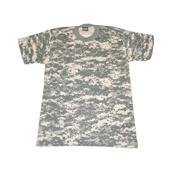 PCS ACU Digital Camouflage Tee short sleeve cotton T-Shirt adult LARGE