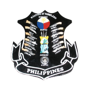 Filipino Plaque: Weapons of Moroland Philippines MEDIUM